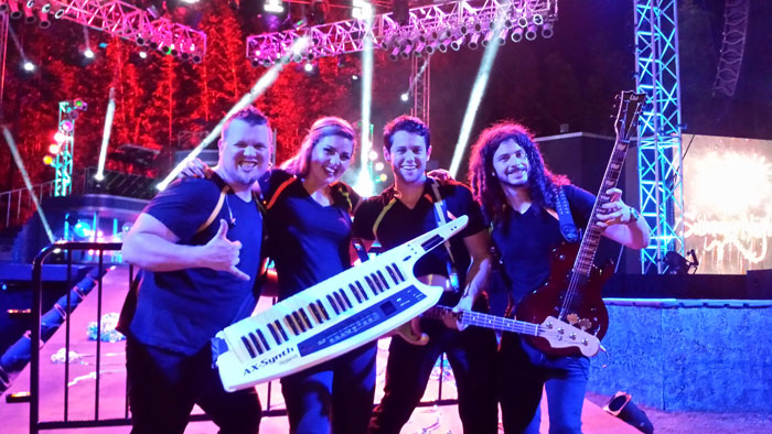 Petrescue performs with the Busch Gardens Tampa Bay Kinetix Band.