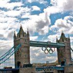 Photo of Tower Bridge with Olympics logo