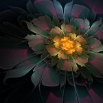 Digital art of a flower