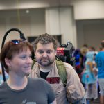 Comic Con Ghostbusters cosplayer shows creativity