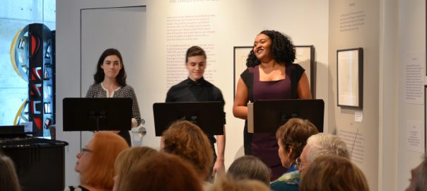 SPC Theater students perform at a recent LRMA Gallery Talk.