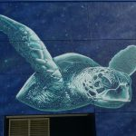 Sea Turtle on the mural Infinite Journey