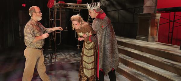 SPC Theater professor Scott Cooper directs actors in Antigone