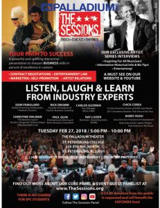 Flier for The Sessions event