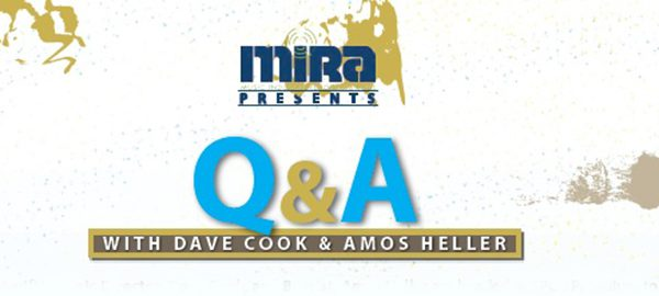 Flier for Q&A with The Agency band members David Cook and Amos Heller
