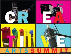 Flier for the Creative Career Summit that offers career preparation for artists
