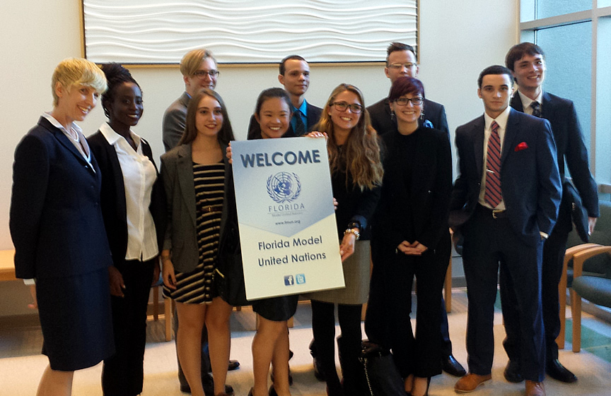 Members of the Gainesville UN team