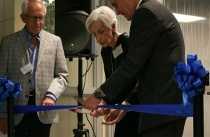 Ribbon cutting at WOW center