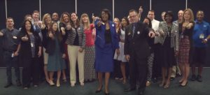 Screen cap from video of faculty, and staff thanking SACSCOC