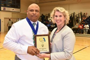 SPC Men's Basketball Head Coach Earnest Crumbley receives Conference Coach of the Year award