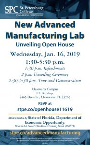 New Advanced Manufacturing Lab flier