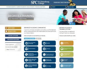 New Degrees and Training Page