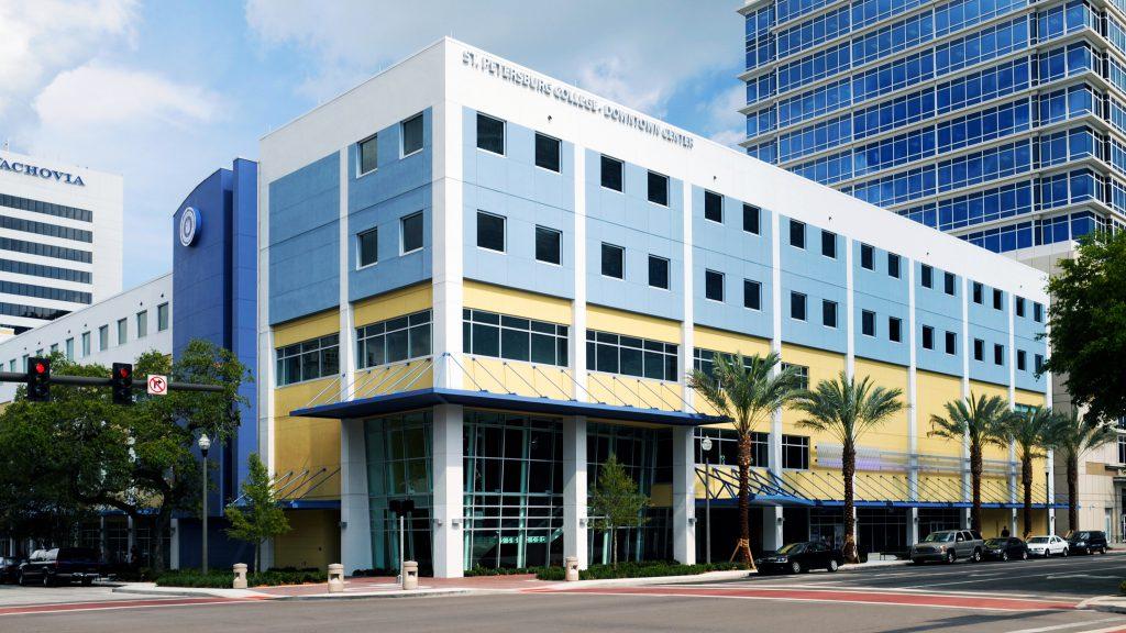 An exterior shot of SPC Downtown Center