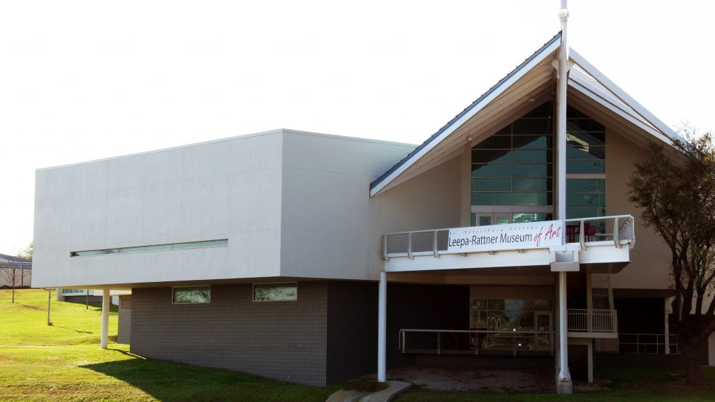 An exterior shot of SPC Leepa-Rattner Museum of Art