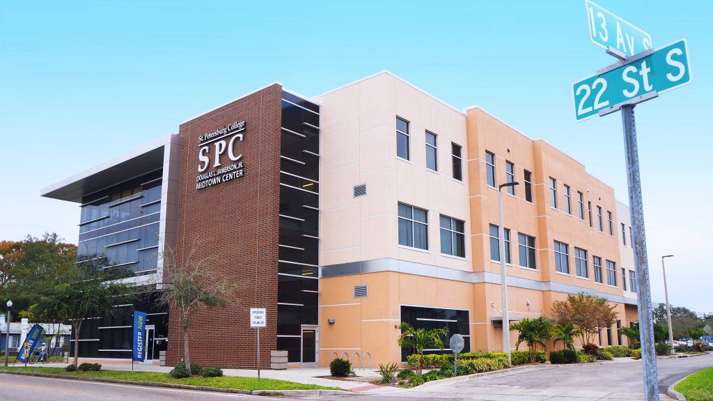 An exterior shot of SPC Midtown Center