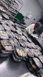 hundreds of food boxes await pickup