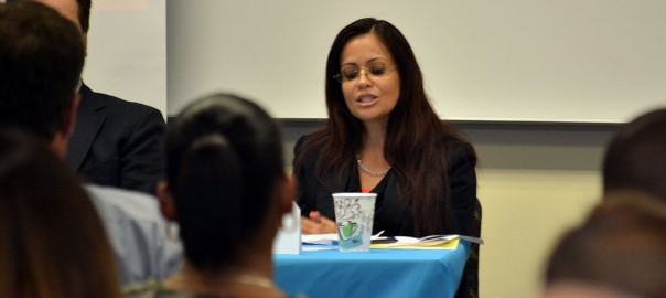 Rina Coronel teaches SPC students about professional networking