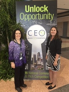 Dr. April Bailey and Amanda Hunt pictured at recent CEO National Conference.