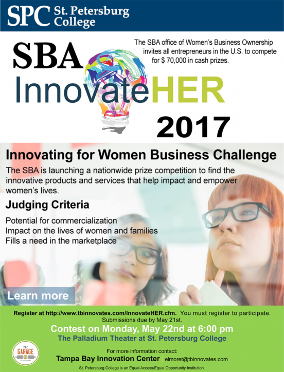 Innovate HER 2017 Competition flyer