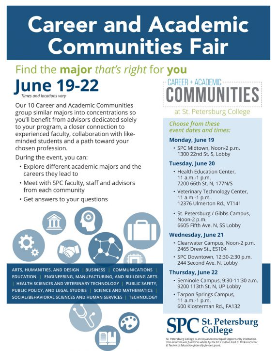 Career and Academic Communities Fair Graphic Flyer