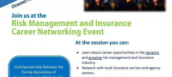 Risk Insurance Career Networking flyer