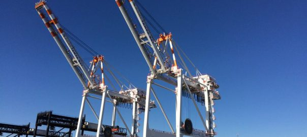 photo of Port Tampa Bay cranes
