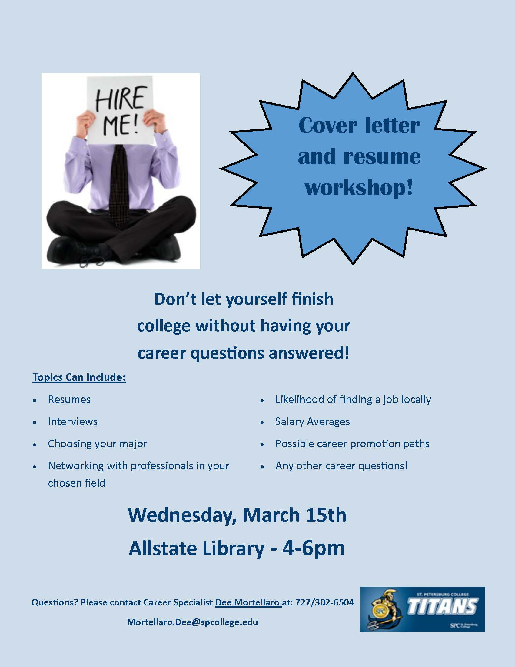 spc allstate presents  resume and cover letter workshop