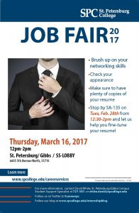 Spring Job Fair Flyer