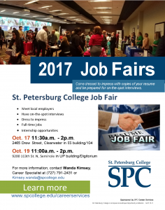 Fall 2017 Job Fairs