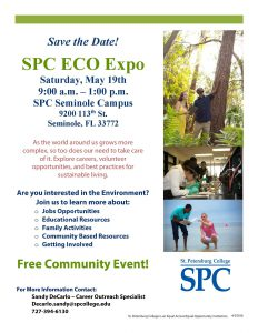 Learn more about eco-friendly living; SPC ECO Expo flier
