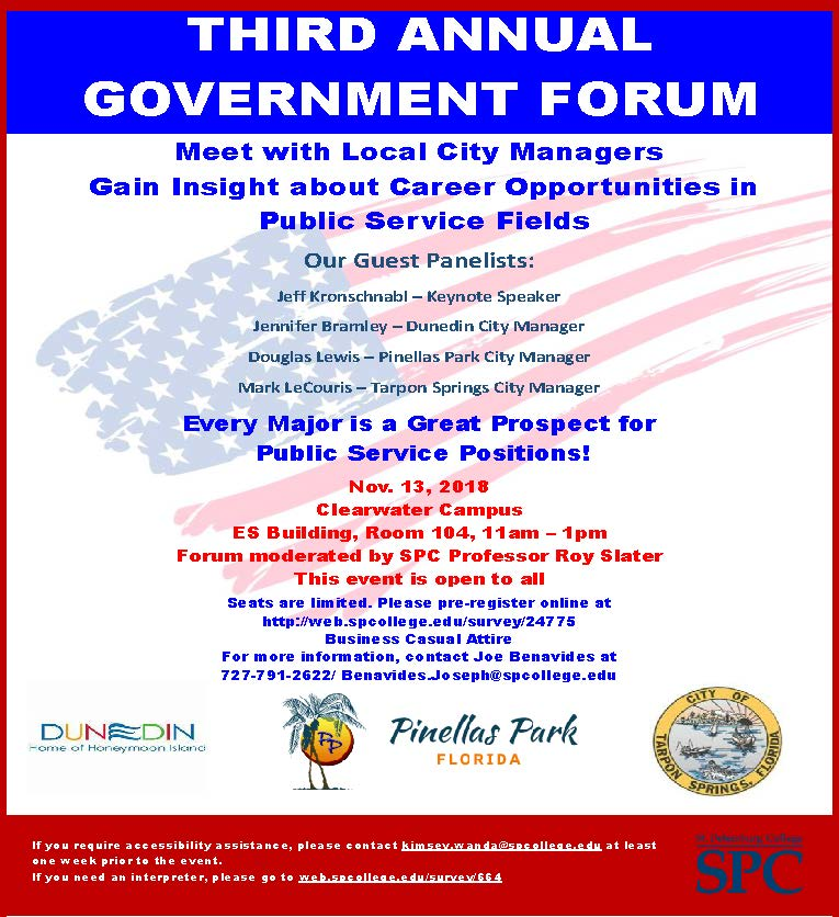 Flier for public service career event