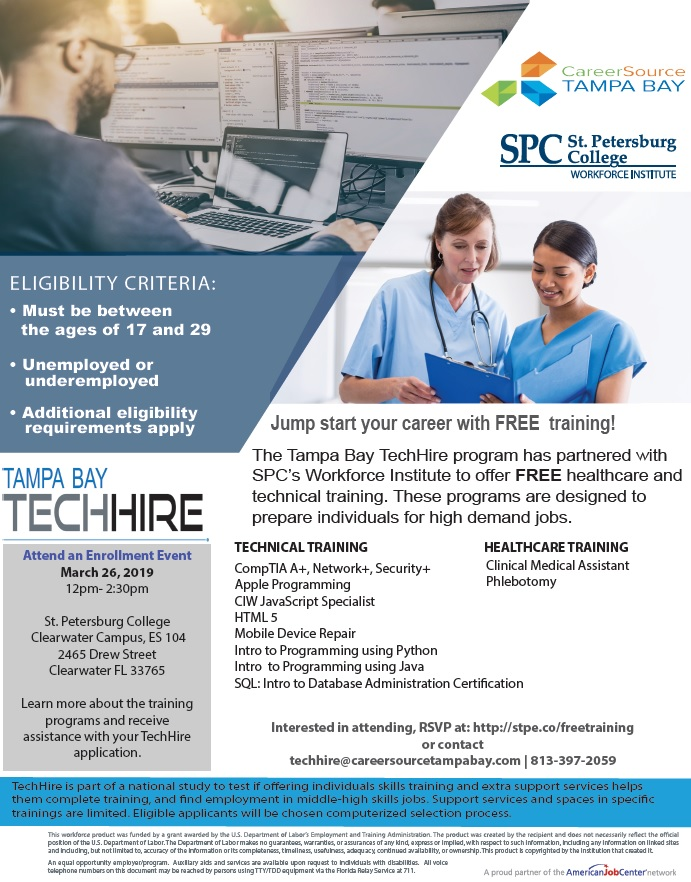 workforce techhire flyer