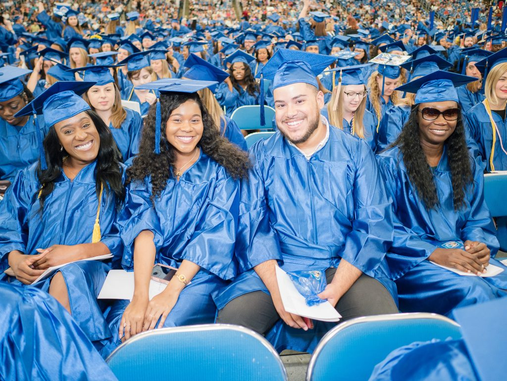 CCMA students at Spring 2019 Commencement