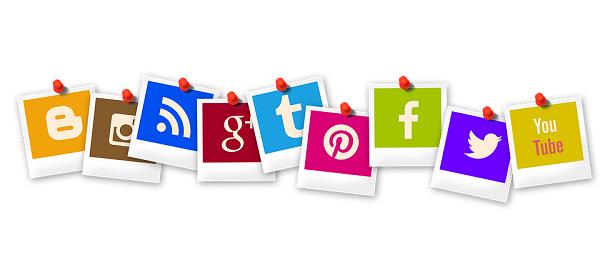 online social media icons