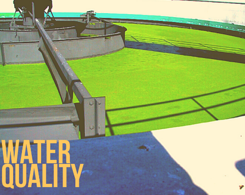 "Image of a water treatment plant with caption ""Water Quality"""