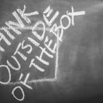 Chalkboard reading: Think outside of the box