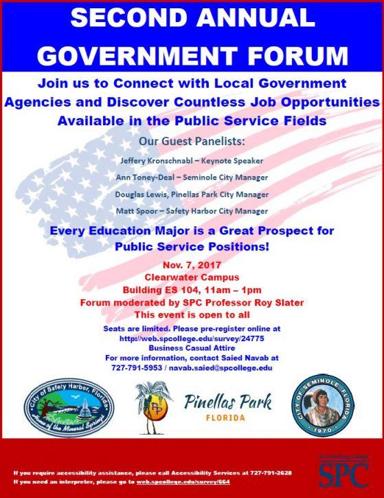 Public Service Career Opportunities flyer