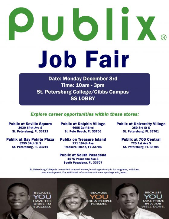Publix Job Fair flier