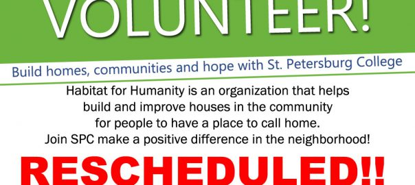 Volunteer Habitat Reschedule