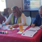 SPC Employees at Seminole Campus filling out paper work