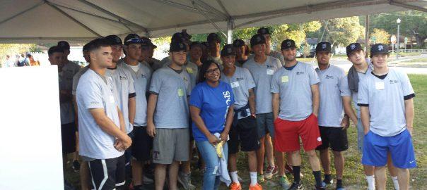 Group photo of SPC Baseball team