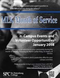 Poster for MLK Month of Service