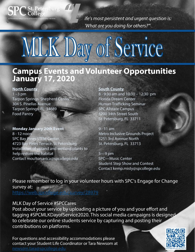 Flier for 2020 MLK Days of Service