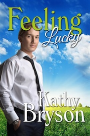 "Cover of SPC faculty member Kathy Bryson's new book ""Feeling Lucky."""
