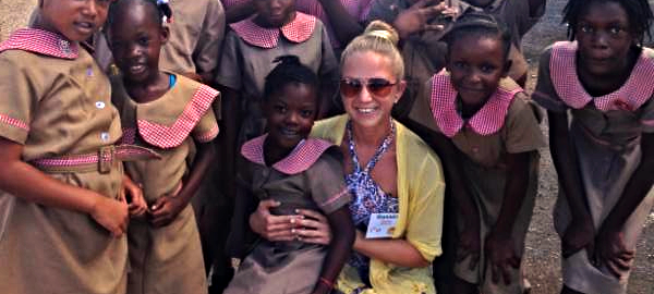 Shanno Rapp, St. Petersburg College Education Student with Jamaican Study Abroad Children