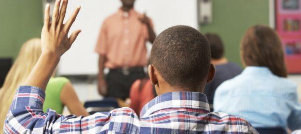 Black male student, black male teacher