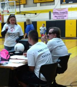 Volleyball volunteers at Special Olympics at Lakewood in March