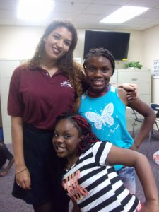 Natalie and some of her students