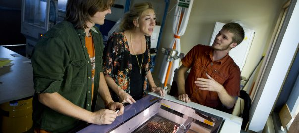 Students learn laser engraving