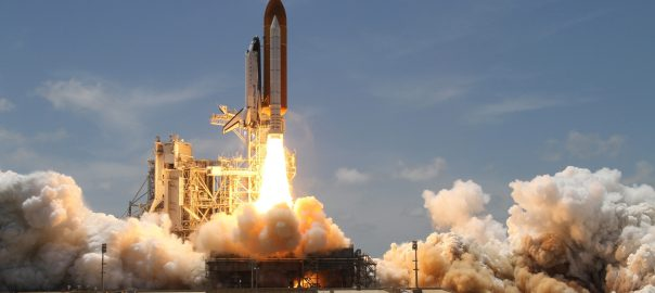 A rocket takes flight at Kennedy Space Center